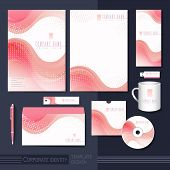 Smooth Curve Lines Background Corporate Identity Set