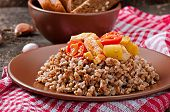 Buckwheat porridge with chicken and vegetables