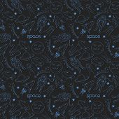 Space vector seamless pattern