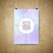 Geometric Style Background Design Poster