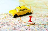 Saragossa ,spain Map Taxi