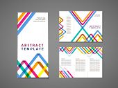 Colorful Triangle Pattern Background Tri Fold Brochure