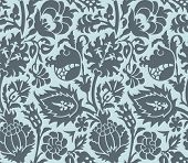 Seamless old-fashioned ornamental floral pattern