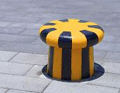 The close view of new bollard