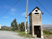 picture of substation  - old disused substation ruin in Andalucian countryside - JPG