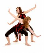 Contemporary Female Dancers Jazz Duet