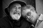 Senior Couple , Black and White