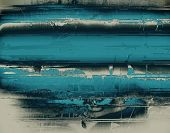 Dirty and weathered old textured background. With different color patterns: blue, gray, black