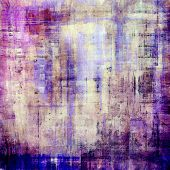 Dirty and weathered old textured background. With different color patterns: blue, violet, purple, brown, gray
