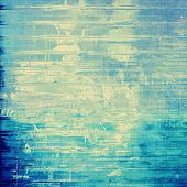 Old abstract texture with grunge stains. With different color patterns: blue, yellow, gray