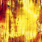 Old school textured background. With different color patterns: yellow, brown, orange