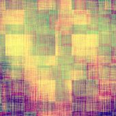 Old grunge antique texture. With different color patterns: yellow, purple (violet), green