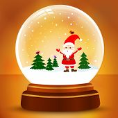 Snow Globe With Santa Claus
