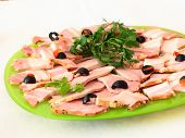 foto of charcuterie  - Tasty healthy calorie charcuterie on a platter - JPG