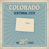 Colorado Retro Poster