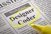 Designer Coder Jobs in Newspaper.