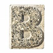 Letter B Carved In A Concrete Block  - A Concrete Block With The Letter