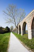 Country Road Along A Roman Aqueduct (pisa - Tuscany - Italy)