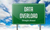 Data Overload on Highway Signpost.
