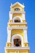 foto of playa del carmen  - Beautiful old Spanish church and bell tower near Playa del Carmen Mexico - JPG