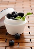 Natural cosmetics; blueberries with lots of antioxidants