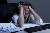 Businesswoman With Terrible Problem