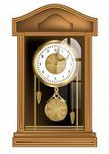 image of pendulum clock  - pendulum clock isolated on a white background - JPG