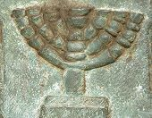 Jewish symbol on a ancient tombstone