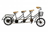 picture of tandem bicycle  - Three seater tandem bicycle - JPG
