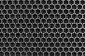 image of beehive  - Black plastic speaker mask beehive shape pattern - JPG