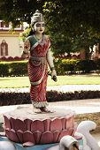 picture of lakshmi  - Statue of goddess Lakshmi in the garden of Lakshmi Narayan Temple - JPG