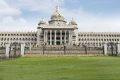 image of vidhana soudha  - Facade of a government building - JPG