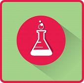 pic of beaker  - flat beaker icon - JPG