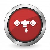 stock photo of hydraulics  - water red icon hydraulics sign  - JPG