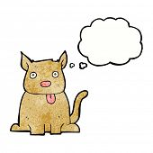 image of sticking out tongue  - cartoon dog sticking out tongue with thought bubble - JPG