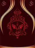 picture of navratri  - Durga Goddess of Power Vector Art - JPG