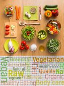 Постер, плакат: Healthy Vegetarian Eating Concepts