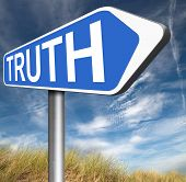 stock photo of law order  - truth road sign be honest honesty leads a long way find justice law and order  - JPG