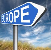picture of continent  - Europe indicating direction to explore the old continent travel vacation tourism  - JPG