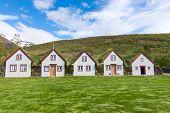 picture of iceland farm  - The historic Laufas farm near Akureyri in northern Iceland - JPG