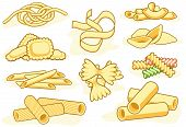 Pasta Shape Icons