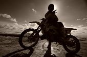 picture of moto-x  - motocross motox biker wideangle rider at race - JPG