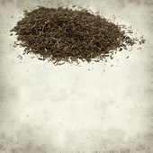 stock photo of fynbos  - textured old paper background with Rooibos tea - JPG