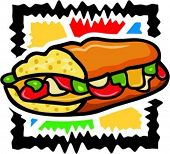 Vector illustration of a low-fat sandwich.