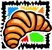 A vector illustration of a fresh croissant.