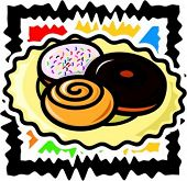 A vector illustration of a donuts.