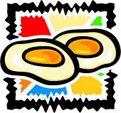 A vector illustration of a frying eggs.