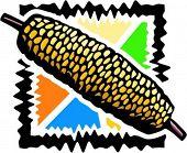 Una ilustración del vector de maíz.