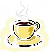 Ilustración de café-cup.Vector