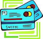 Credit card.Vector illustration